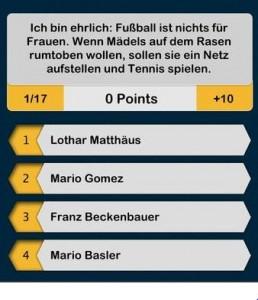 Welcher Bayern-Spieler hat das gesagt?