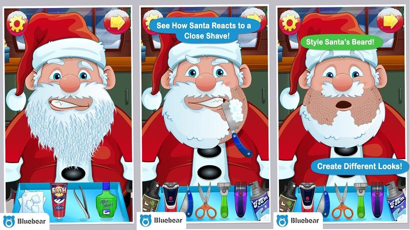 So rasiert ihr in Shave Santa den Weihnachtsmann