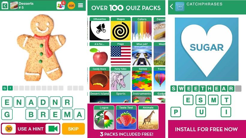 Das Spiel 100 Pics Quiz ist angeblich das größte Bilderquiz
