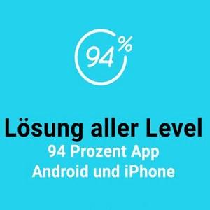 94% jetzt bis Level 45