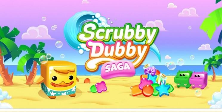 Sammelt Seifenstücke in Kings Scrubby Dubby Saga