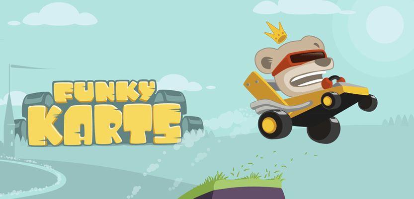 Funky Karts ist ein cooler Downhill Racer