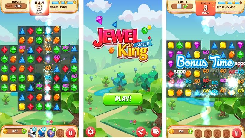 Jewel Match King verfügt über sehr viele Levels