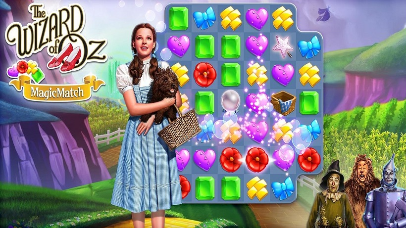 Es gibt neue Regionen im Spiel The Wizard of Oz Magic Match