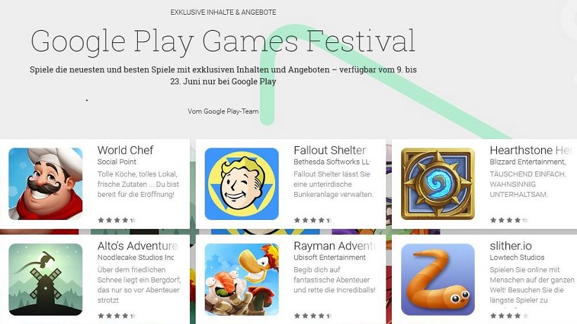 Google Play Games Festival