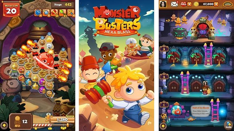 Monster Busters Hexa Blast ist ein intelligenter Spaß
