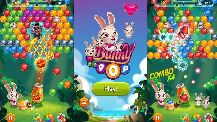 Es gibt neue Levels im Bubble Shooter Bunny Pop