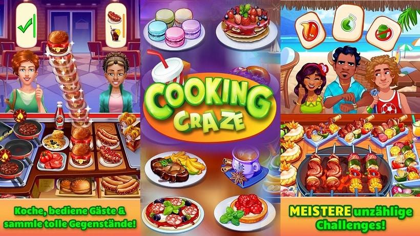 Cooking Craze bietet euch über 500 Rezepte