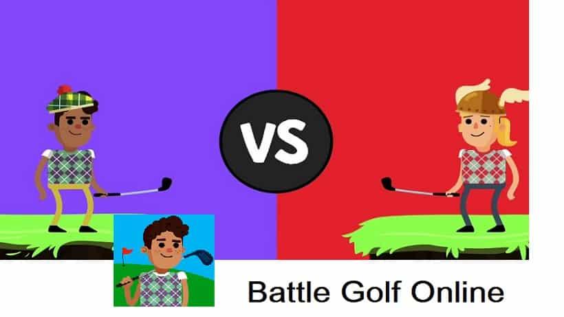 Schwingt den Schläger in Battle Golf Online