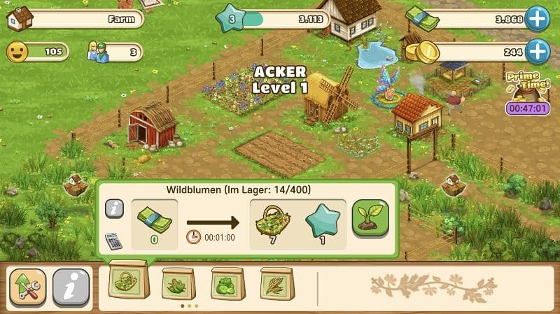 Big Farm Mobile Harvest wurde erneut aktualisiert