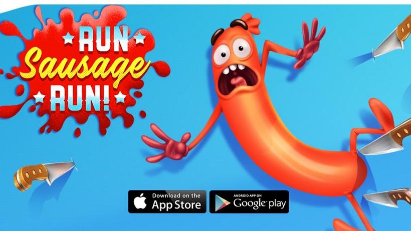 Achtet in Run Sausage Run auf menschliche Füße