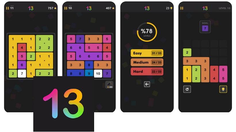 13! ist ein tolles Denkspiel für iOS und Android