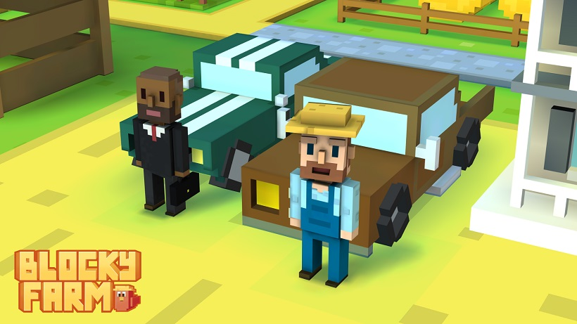 Blocky Farm ist der ideale Spaß für Hobbybauer