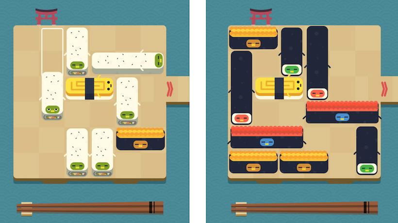 Lecker, lecker: Schiebt Sushi mit Push Sushi!
