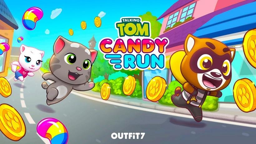 Süßer Endless-Runner: Talking Tom Candy Run