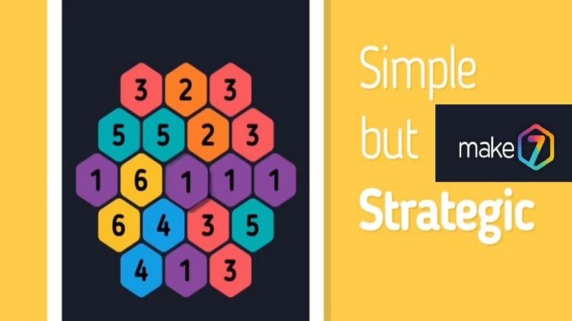 Das kostenlose Zahlenspiel Make 7 Hexa Puzzle macht süchtig