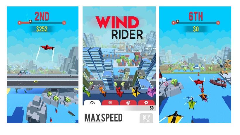 Wie schnell fliegt ihr in Wind Rider?