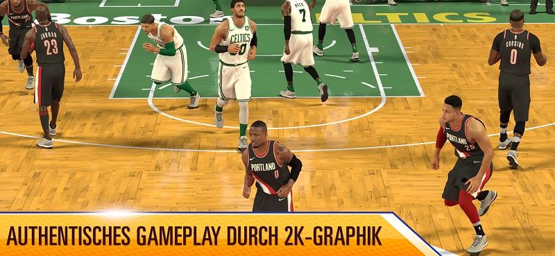 NBA 2K Mobile - die Grafik des Spiels ist der Hammer