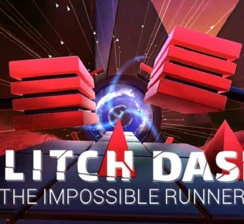 Ein futuristischer Endless-Runner: Glitch Dash