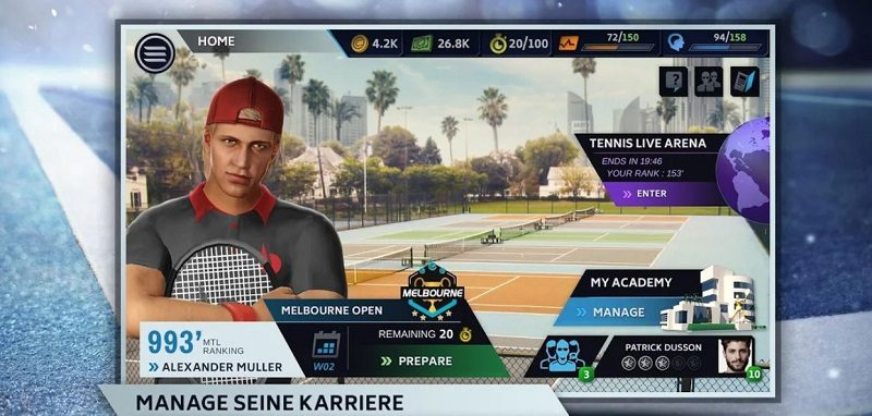 Tennis Manager 2019