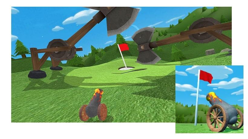 Locht mit Truthähnen in Meat Cannon Golf ein!