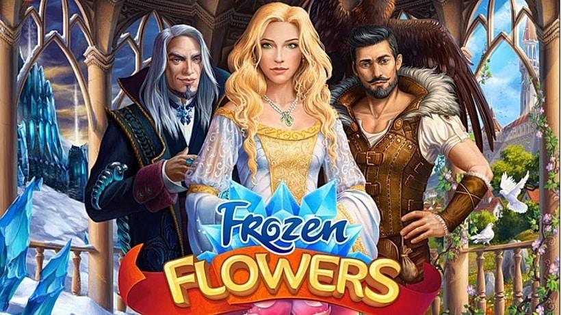 Frozen Flowers ist ein blumiges Match 3-Spiel