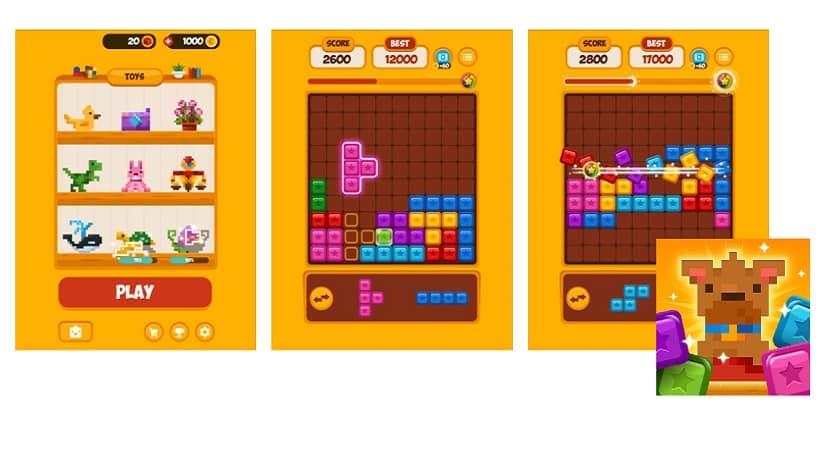Ein Mix aus Woody Puzzle und Tetris