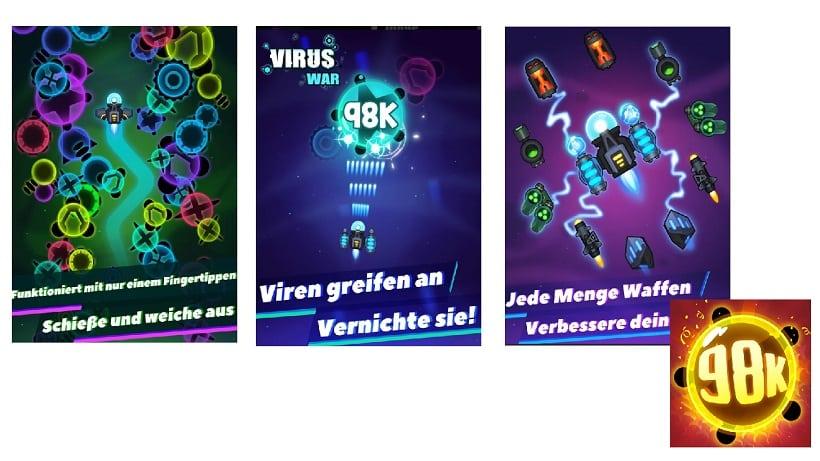 Virus War - Weltraum-Shooter