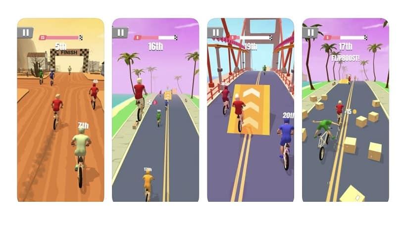Bike Rush lässt euch durch viele Metropolen radeln!