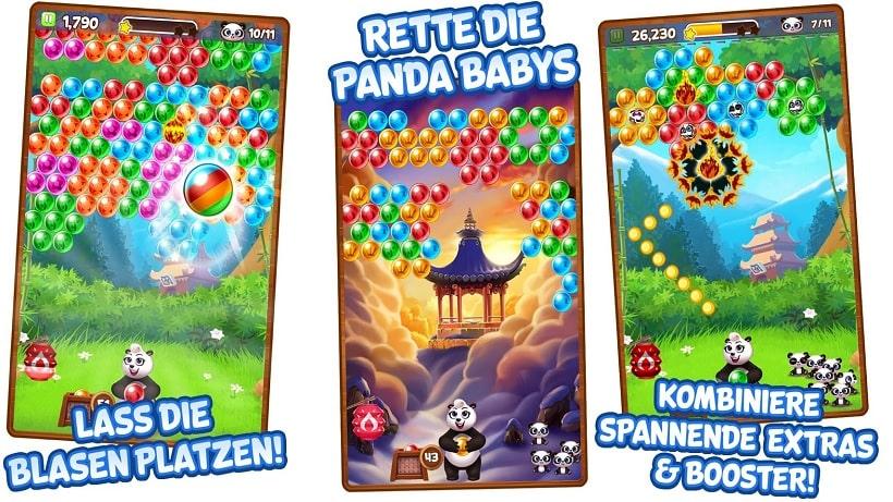 Glücksbärchis besuchen kurzzeitig das Spiel Panda Pop