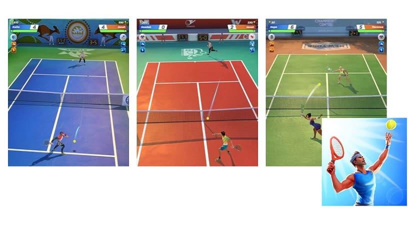 So spielt ihr Tennis Clash 3D Sports gegen eure Freunde