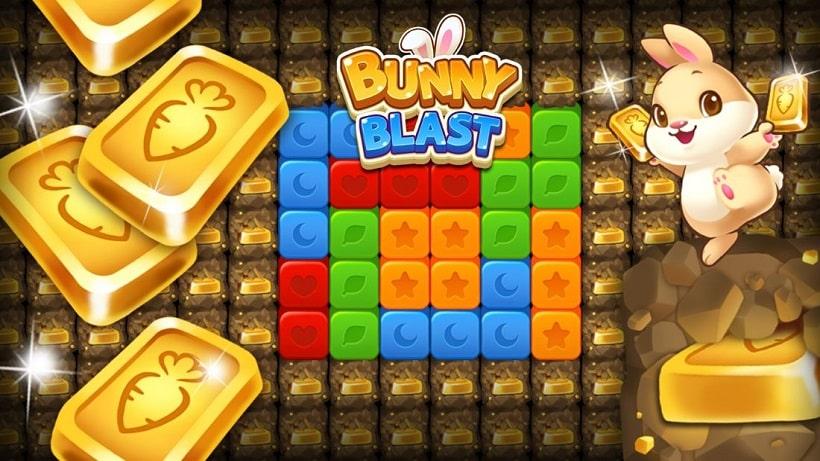Bunny Blast ist ein schönes Osterspiel mit über 2000 Levels