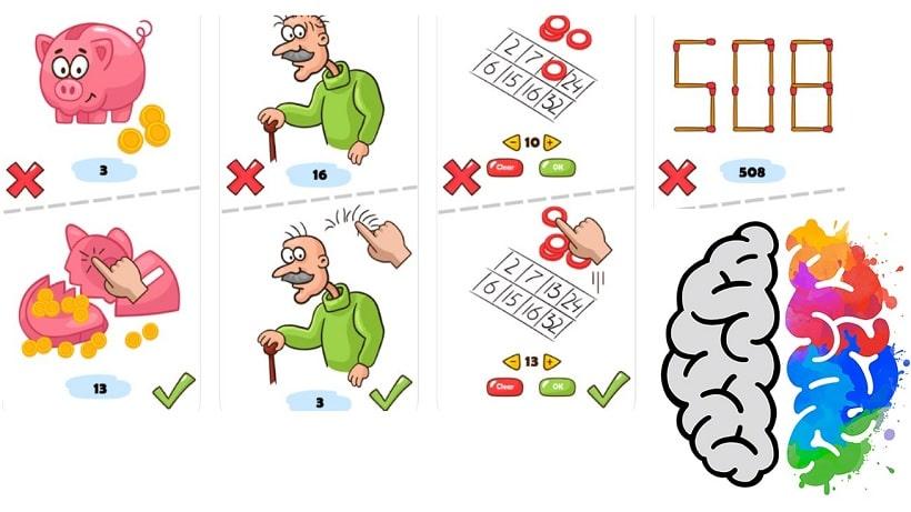 Hier gibt es Lösungen zum Denkspiel Brain Blow