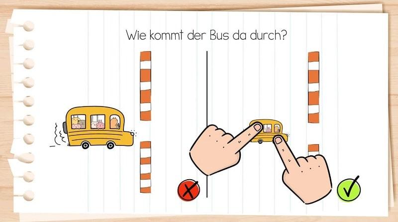 Brain Test - so kommt der Bus über die Straße