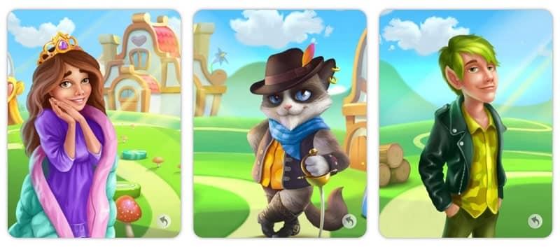EverMerge - dies sind einige Charaktere des Spiels