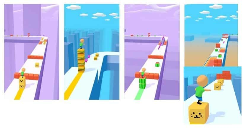Cube Surfer ist ein schnödes Stapelspielchen
