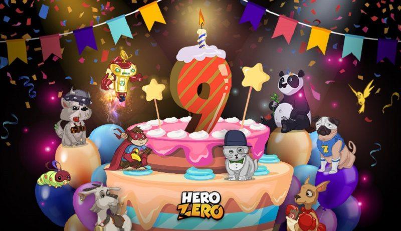 Hero Zero feiert seinen 9. Geburtstag