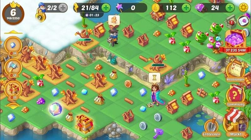 EverMerge lässt euch eine zauberhafte Insel errichten
