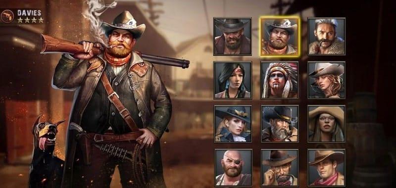 West Game bietet euch verschiedene Helden