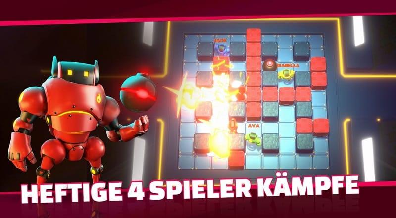Bomb Bots Arena bietet euch verschiedene Spielmodi