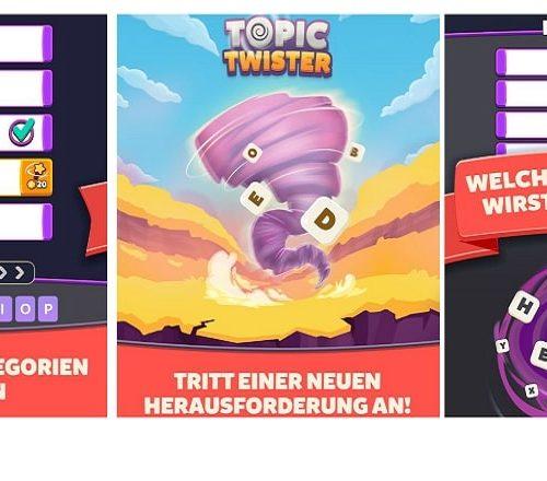 Topic Twister ist ein modernes Stadt-Land-Fluss-Spiel