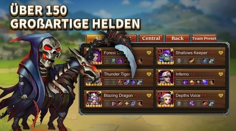Heroes Charge bietet euch mittlerweile über 150 verschiedene Helden