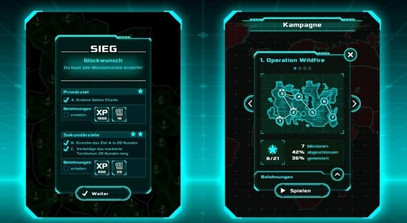 Risky Wars bietet euch verschiedene Missionen