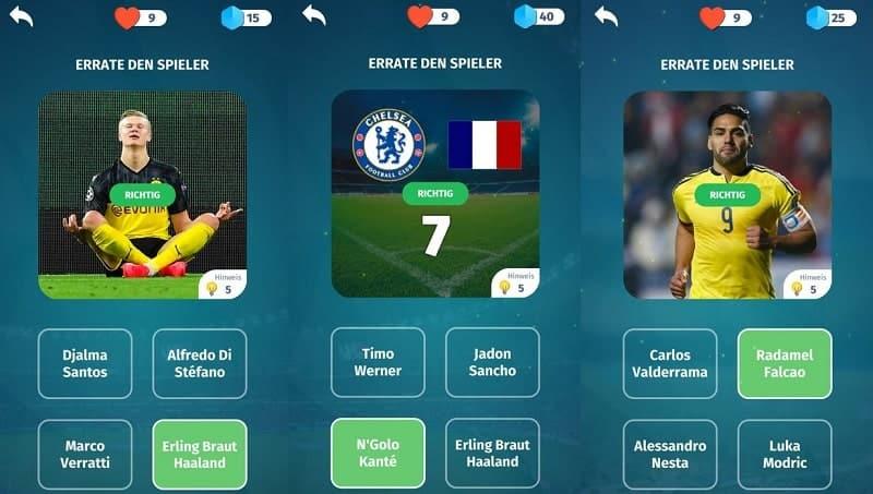 Football Quiz bietet euch über 500 Fragen