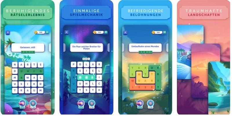 Das sind die offiziellen Screenshots aus dem Spiel Word Lanes