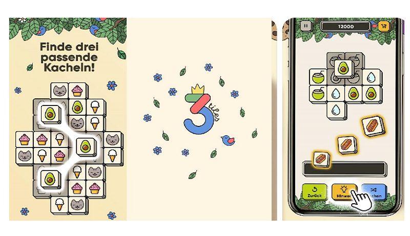 3 Tiles ist ein entspanntes Match-3 Spiel für iOS!