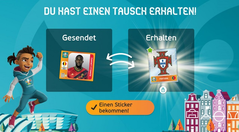 EURO 2020 Panini Sticker Album - wer viele Freunde hat, wird viel tauschen können