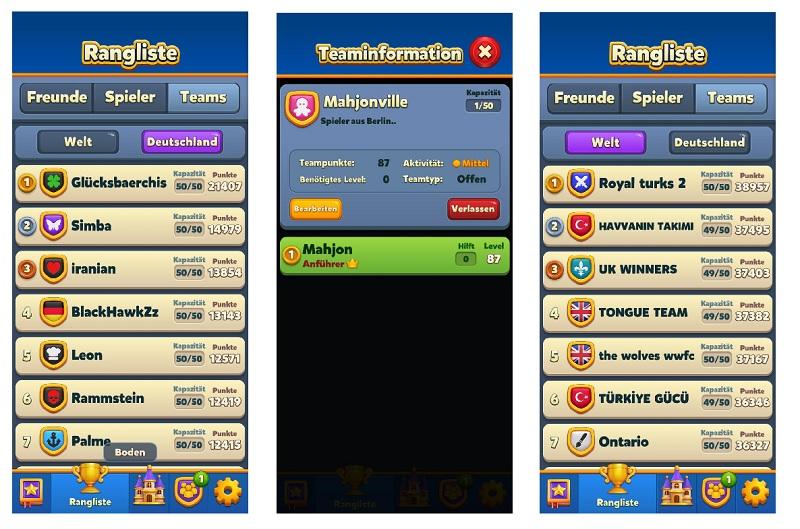Royal Match - werdet Mitglied im Team Mahjonville