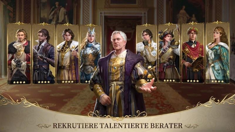 King's Choice bietet euch eine Menge - unter anderem müsst ihr viele Berater rekrutieren