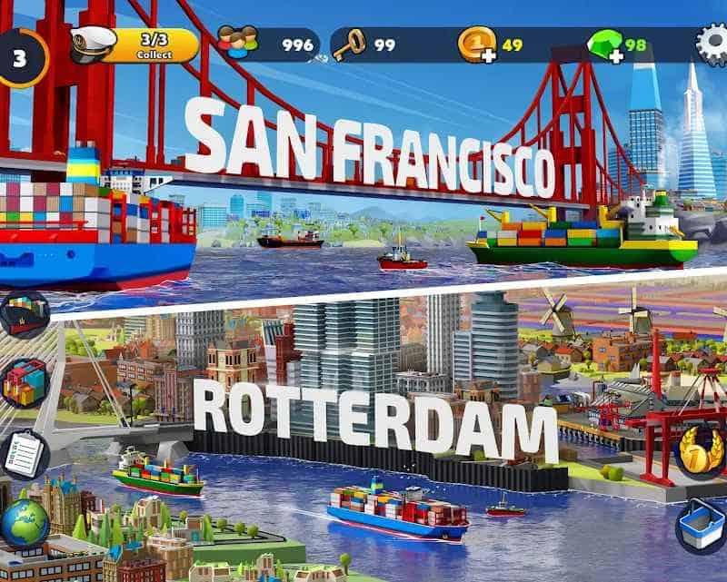 Port City- Ship Tycoon - das sind Screenshots aus dem Spiel
